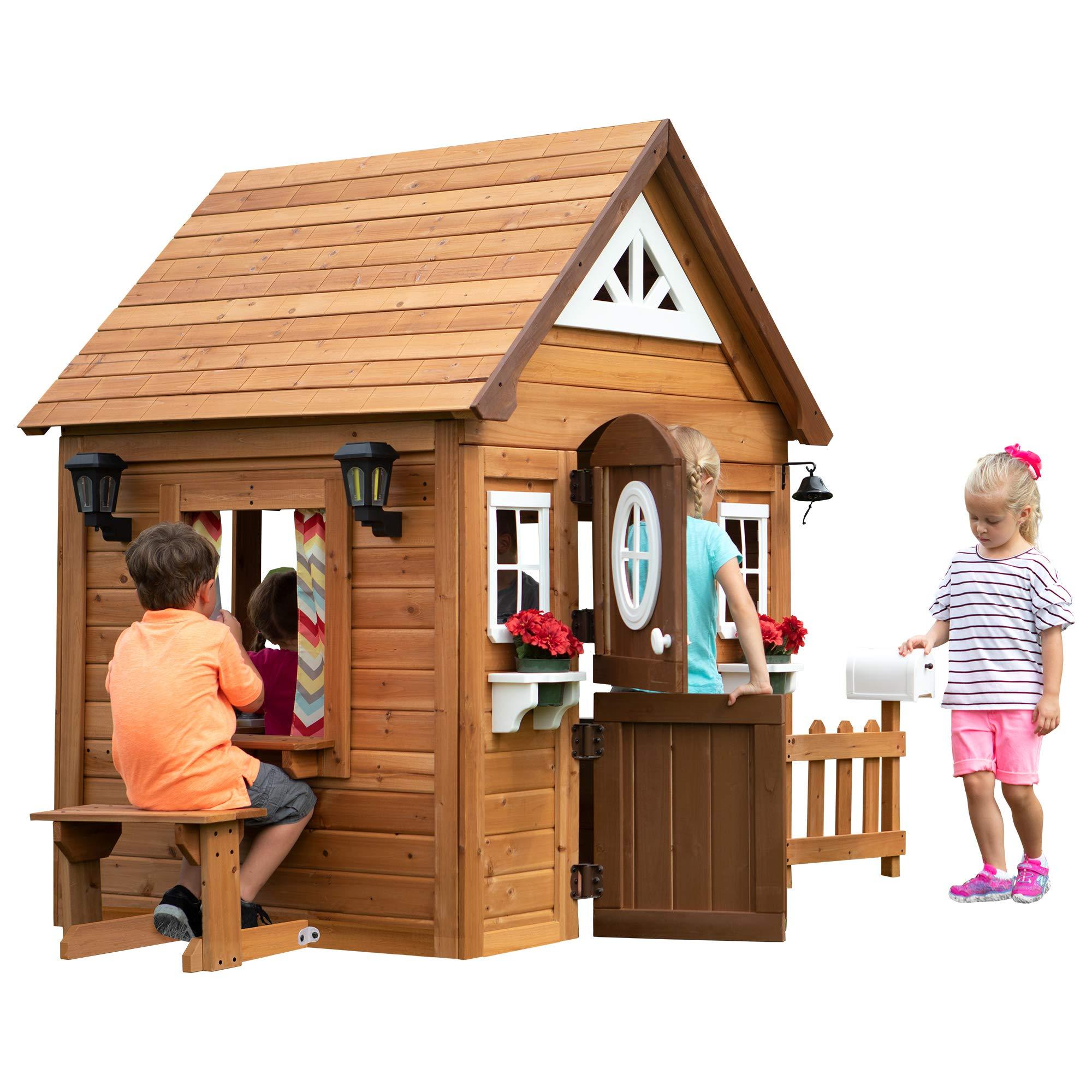 Backyard Discovery Aspen All Cedar Outdoor Wooden Playhouse by Backyard Discovery (Image #1)