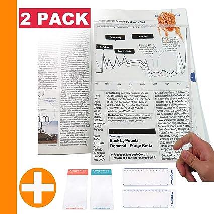 Amazon.com: MagniPros - Lupa grande de página completa de 3 ...