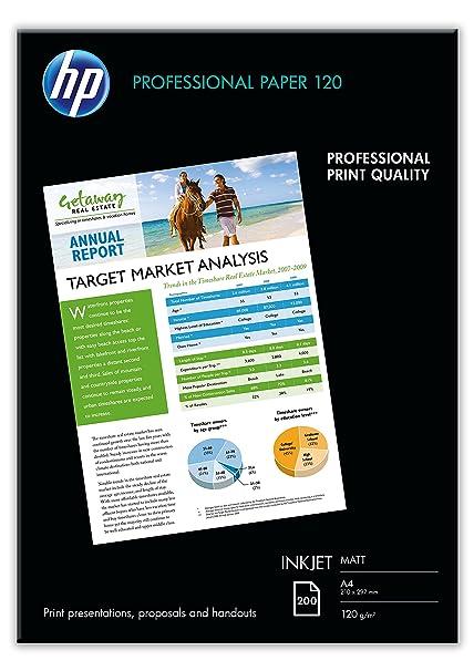 HP Professional Q6593A - Papel mate para impresora de inyección de tinta (200 hojas, A4)