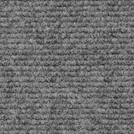 House Home And More Indoor Outdoor Carpet With Rubber Marine Backing Gray 6 Feet X 20 Feet