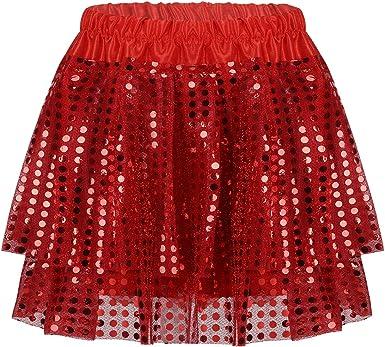 Agoky Falda Niña Vestido de Fiesta Princesa de Lentejuelas Faldas ...