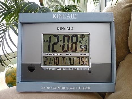Tubería de pared estación meteorológica reloj Digital