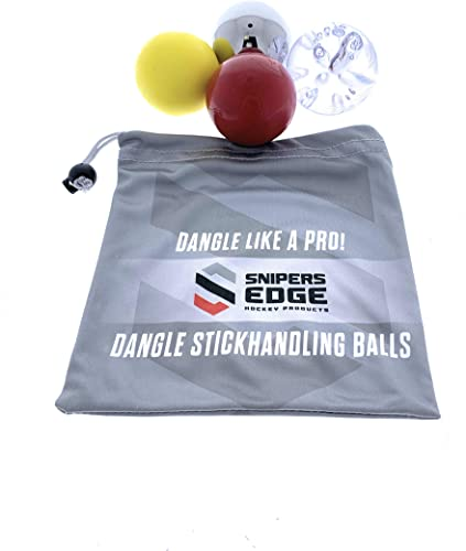 Snipers Edge Hockey Dangle Balls Skillz Ice Speed Muscle Bonus Bag Improve Stick Handling ON Off The Ice