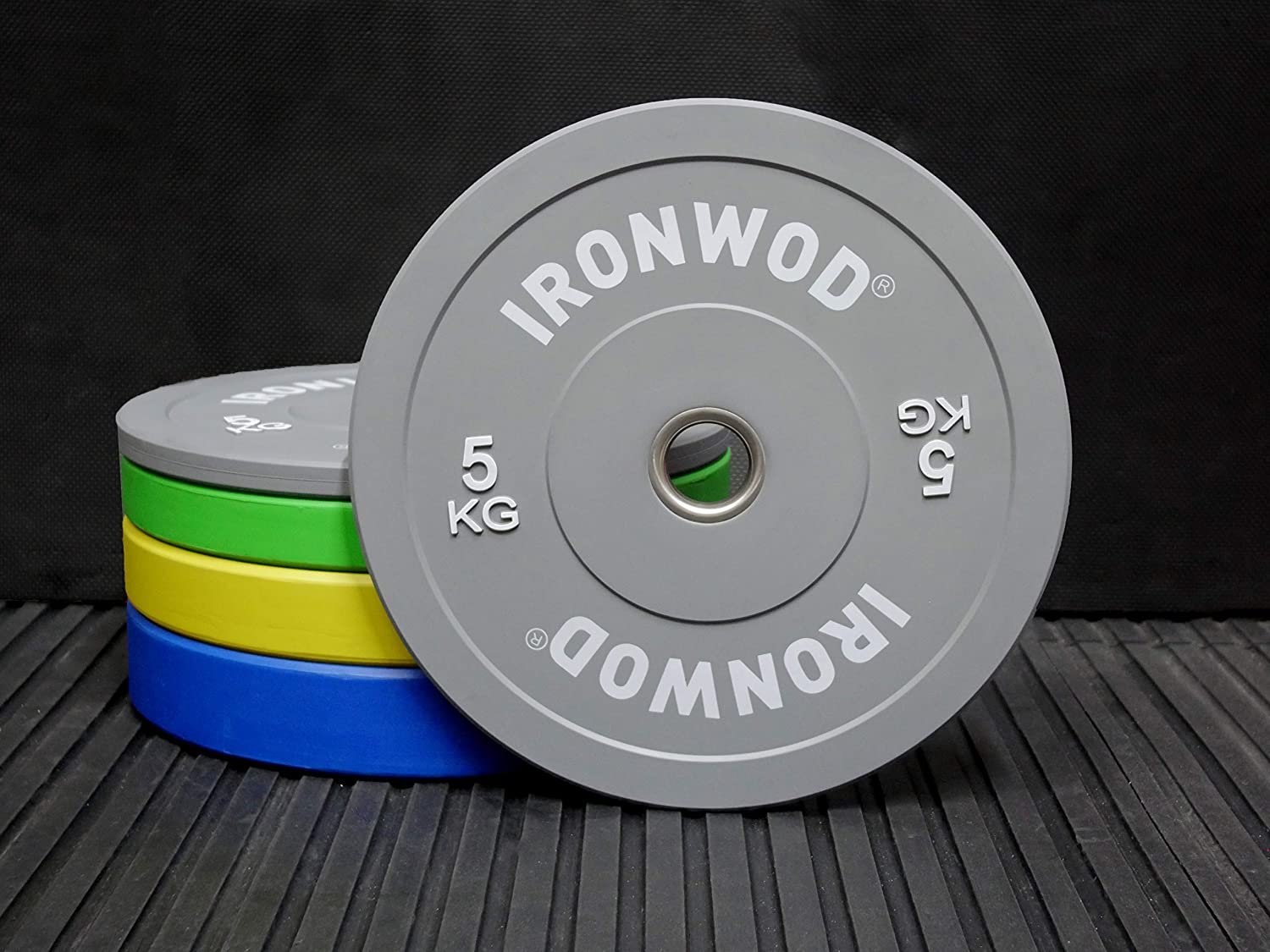 EXTREME FITNESS Ironwod Colour Rubber Bumper Weight Plates Olympic 2 Pairs