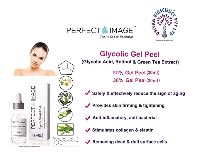 Perfect Image Glycolic Acid 30 Gel Peel Enhanced With Retinol And