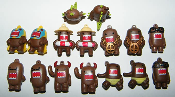 "Domo Danglers party favors set of 8 different figures approx 1/"" tall"