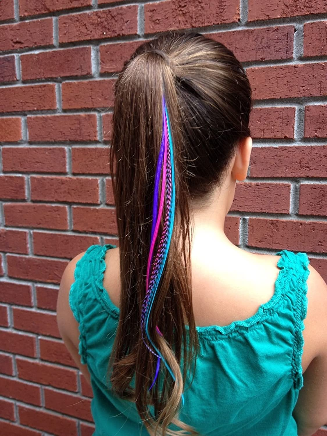 Amazon Feather Hair Extensions 100 Real Rooster Feathers