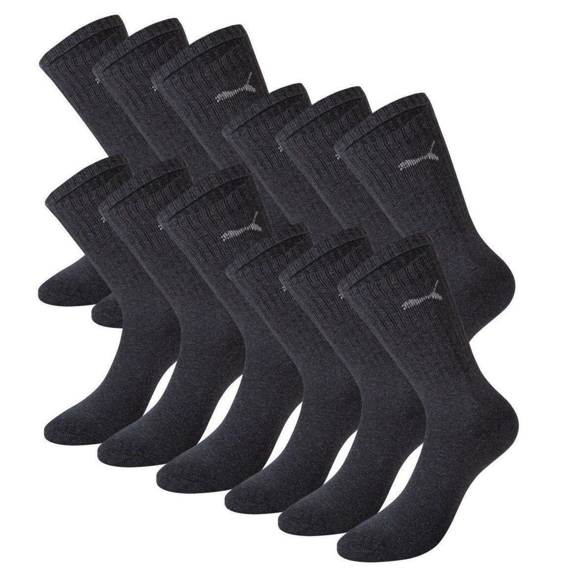 12P Calcetines deportivos unisex color gris Puma talla 43-46