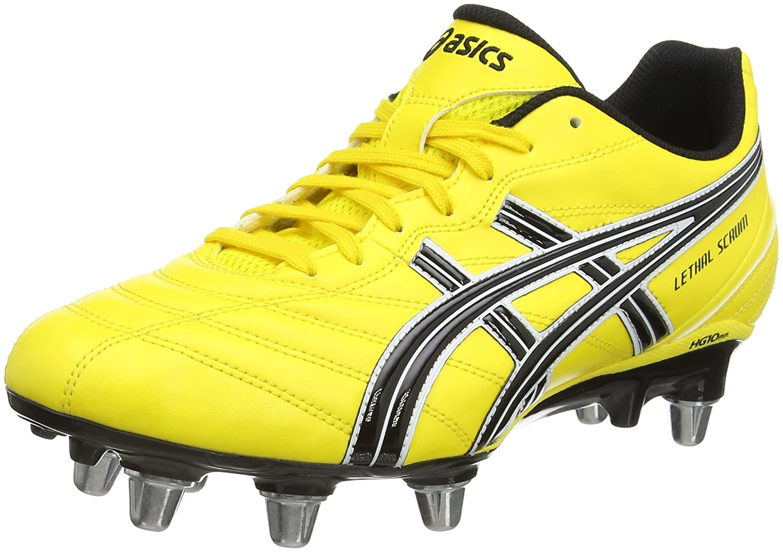 ASICS Lethal Scrum, Botas para Hombre Botas de Rugby para Hombre Amarillo (Yellow 0490) 50.5 EU P031Y