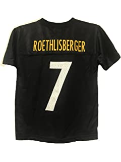 9eb8d326e Ben Roethlisberger Pittsburgh Steelers NFL Youth Black Home Mid-Tier Mesh  Jersey