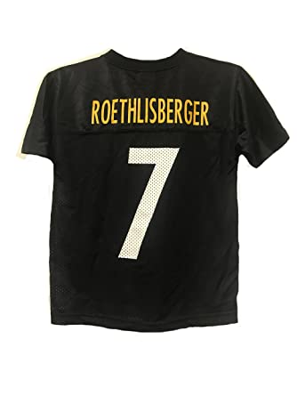 efe633848 Ben Roethlisberger Pittsburgh Steelers NFL Youth Black Home Mid-Tier Mesh  Jersey (Youth Large
