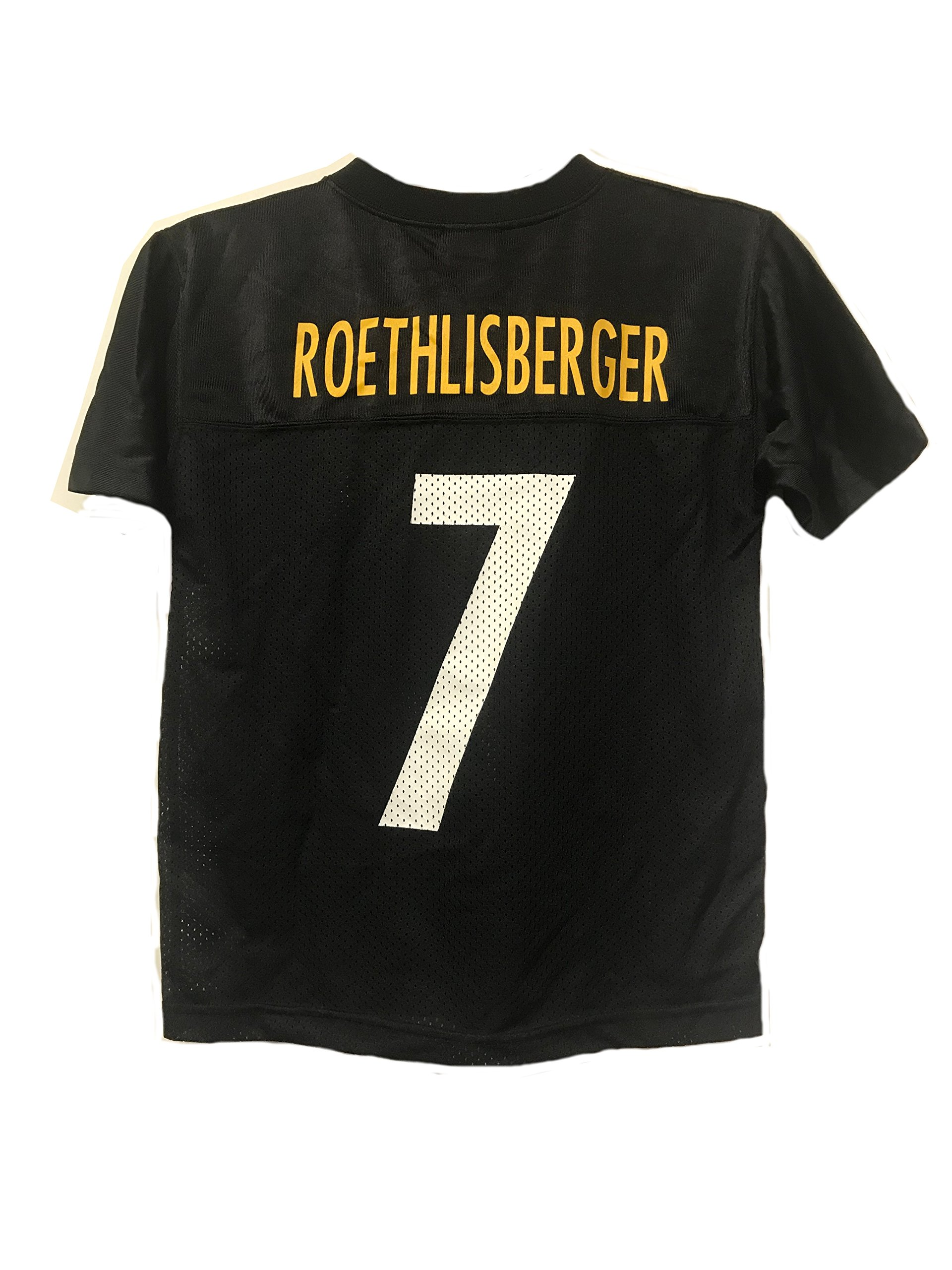 89cd8ffe0 Ben Roethlisberger Pittsburgh Steelers NFL Youth Black Home Mid-Tier Mesh  Jersey (Youth X-Large 18-20)