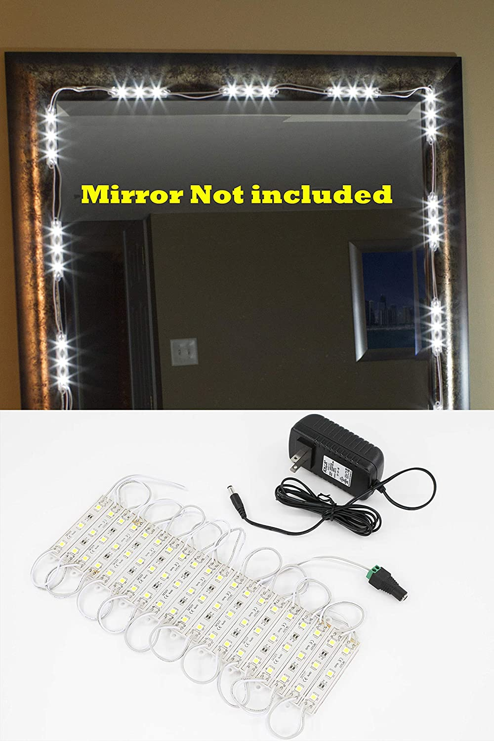 Make Up Mirror LED Light For Vanity Miror Great or Makeup Including UL Power Supply Eco Series