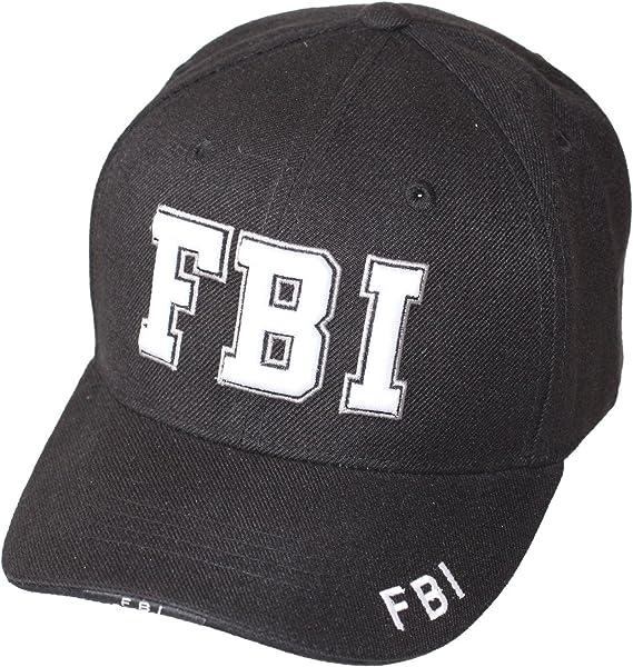 Rapdom - Gorra de béisbol - para hombre FBI-SCHWARZ: Amazon.es ...