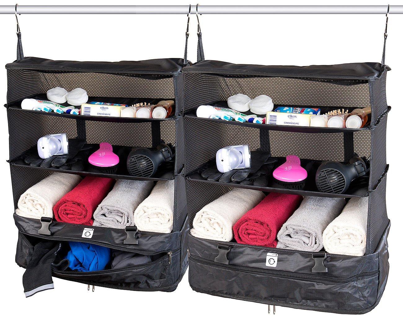 Xcase Koffer-Organizer-Taschen: 2er-Set XXL-Koffer-Organizer, Packwürfel zum Aufhängen, 45 x 64 x 30cm (Reisekoffer-Taschen)