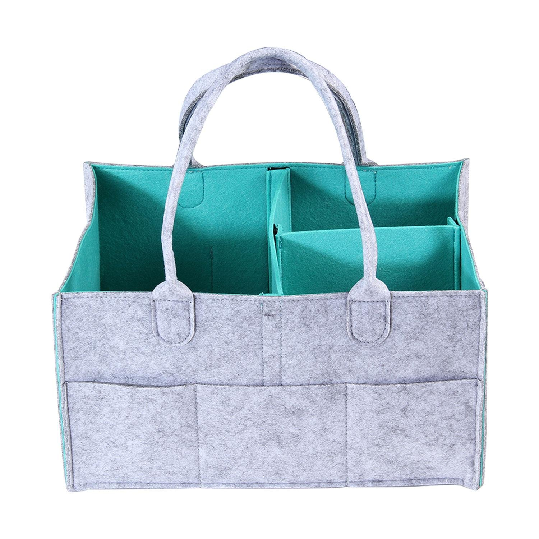 Kobwa - Organizador plegable para pañales, toallitas, juguetes, etc.