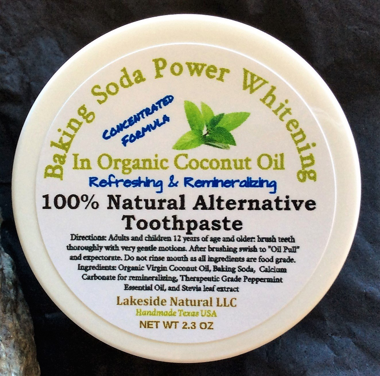 Amazon Com All Natural Toothpaste Alternative With Peppermint Oil