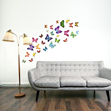 Walplus Colourful Butterflies Wall Stickers Office Home