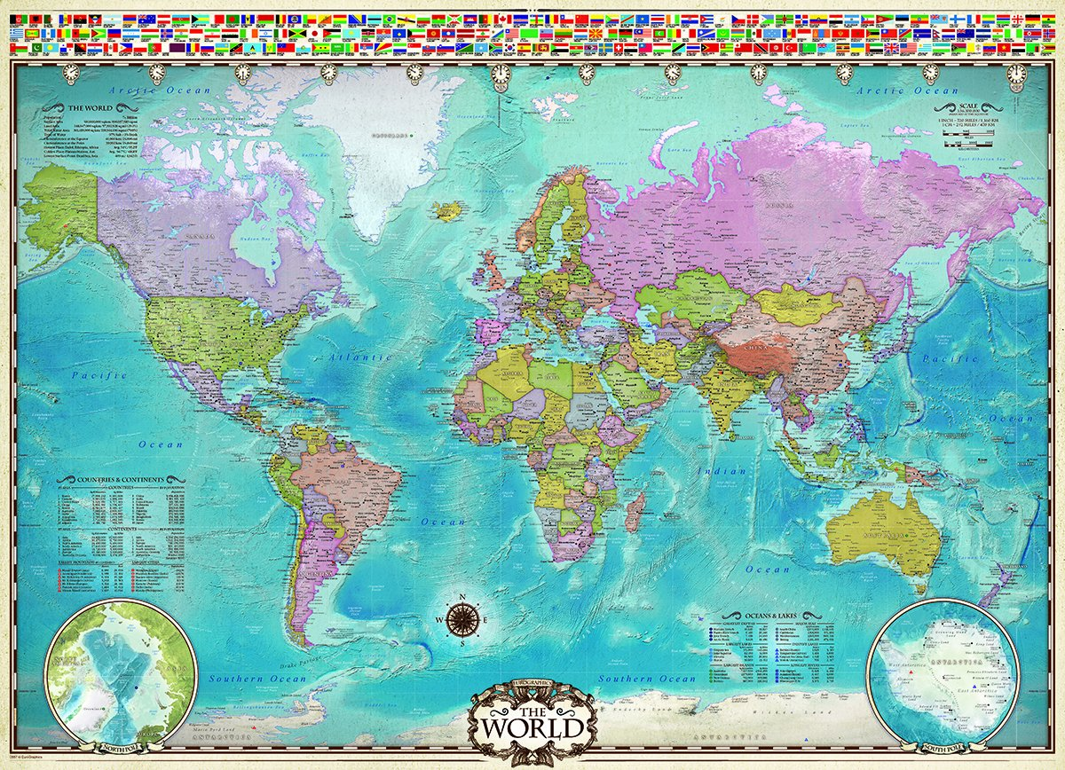 Amazon eurographics map of the world puzzle 1000 piece amazon eurographics map of the world puzzle 1000 piece varios toys games gumiabroncs Choice Image