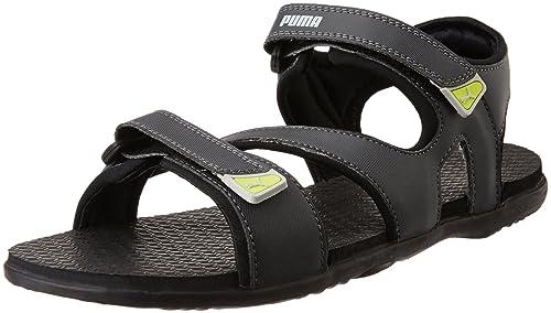 Puma Men s Elego Idp Asphalt and Black Athletic   Outdoor Sandals - 11 UK  India 82838ecde