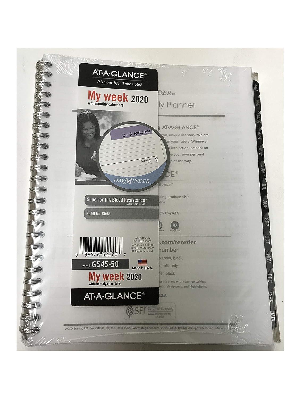Amazon.com: At-A-G1anc - Recambio para planificador semanal ...