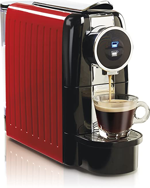 Hamilton Beach Espresso and Lungo Coffee Machine, 19 Bar Italian Pump, Holds 13 Capsules, 22 Oz Water Tank, Red (40725)