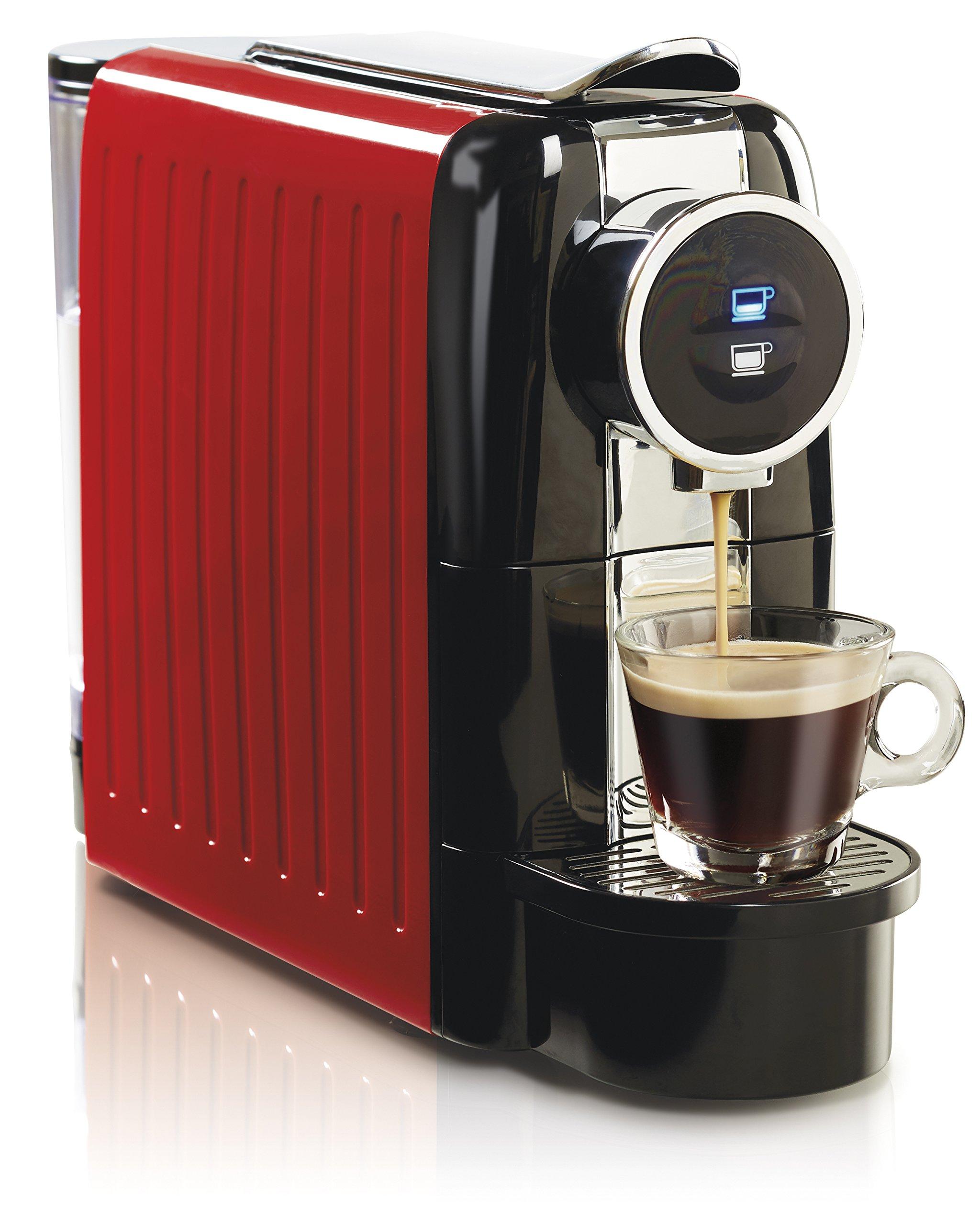 Hamilton Beach Espresso and Lungo Coffee Machine, 19 Bar Italian Pump, Holds 13 Capsules, 22 Oz Water Tank, Red (40725) by Hamilton Beach