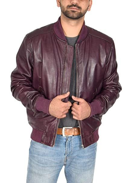 House Of Leather - Chaqueta - Biker - para Hombre Granate XX ...
