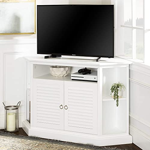 Walker Edison Furniture 52″ Wood Corner TV Stand Console