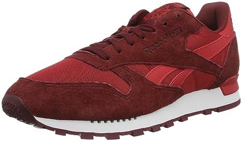 Reebok Classic Leather Clip ELE, Zapatillas para Hombre, Rojo (Flash Red/Merlot/Terracota), 45.5 EU