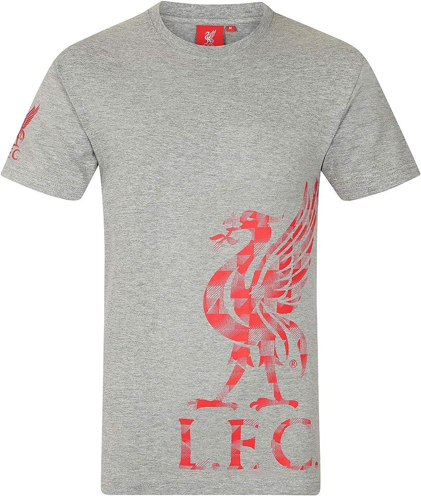 Liverpool FC - Camiseta Oficial para Hombre - Serigrafiada - Logo ...