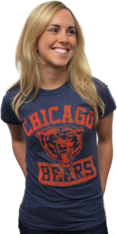 NFL Chicago Bears Women's Vintage Flock Short Sleeve Crew Tee