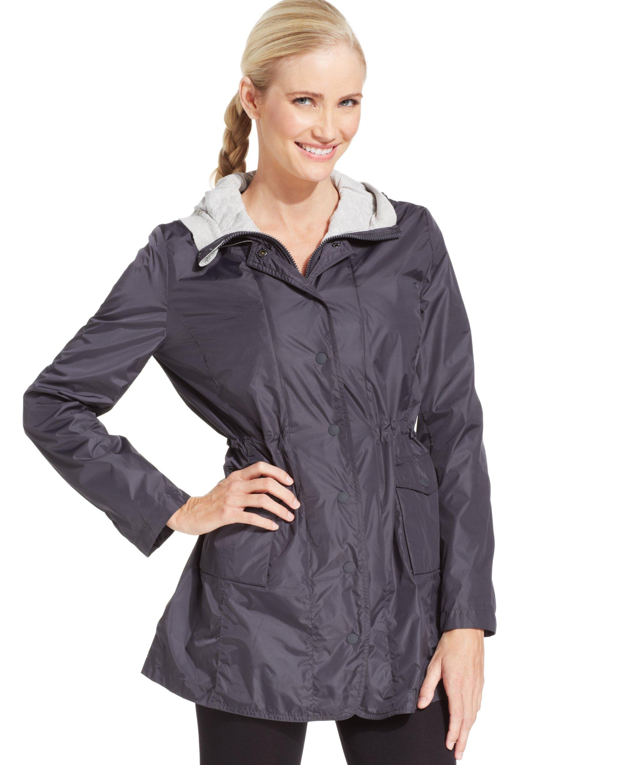Calvin Klein Performance Women's Convertible Hood Walker Coat, Charcoal, Small