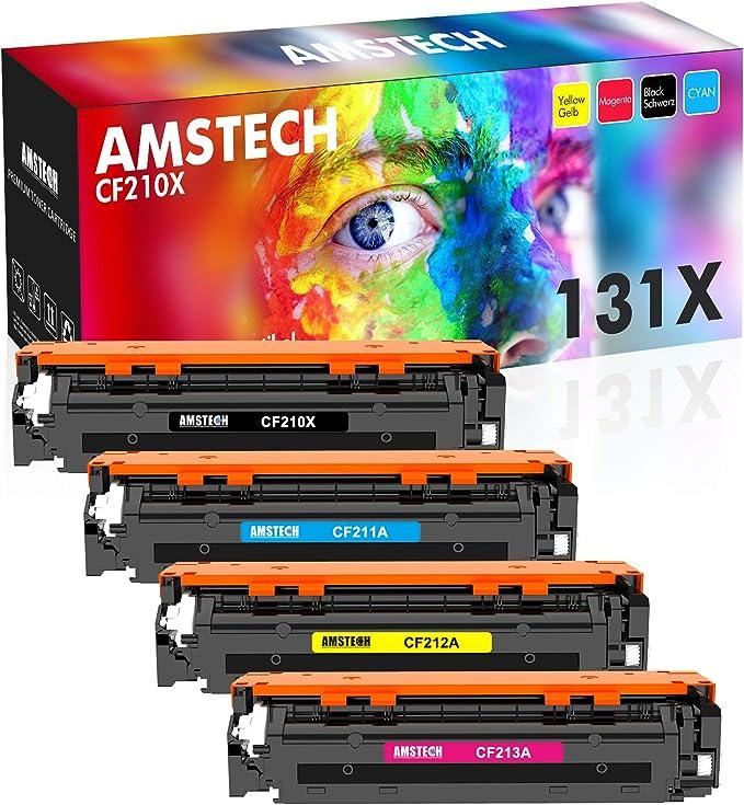 Amstech Remanufactured Toner Cartridge Replacement For Hp Cf210x 131x Cf210a 131a Hp131a Toner For Hp Laserjet Pro 200 Color Mfp M276n M276nw M251n M251nw M276 M251 128a Ce320a 125a Cb540a Toner Bürobedarf