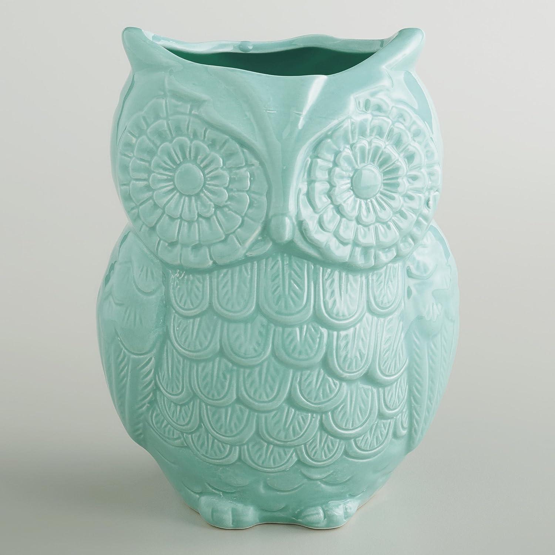 Amazon.com: Aqua Owl Ceramic Kitchenware Set: Cookie Jar, Spoon Rest And  Utensil Crock: Kitchen U0026 Dining