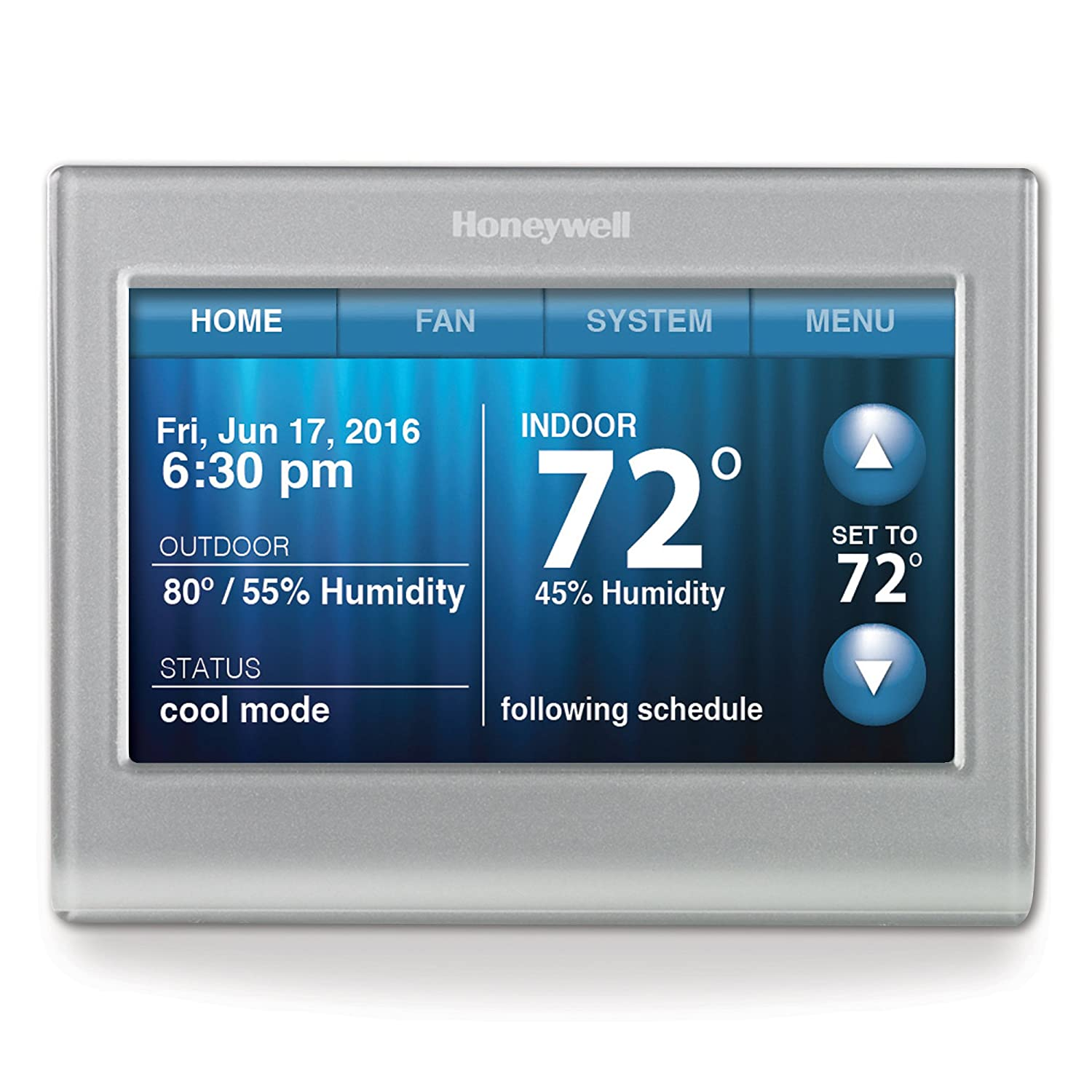 Honeywell RTH9580WF Smart Wi-Fi 7 Day Programmable Color Touch Thermostat,  Works with Alexa - Programmable Household Thermostats - Amazon.com