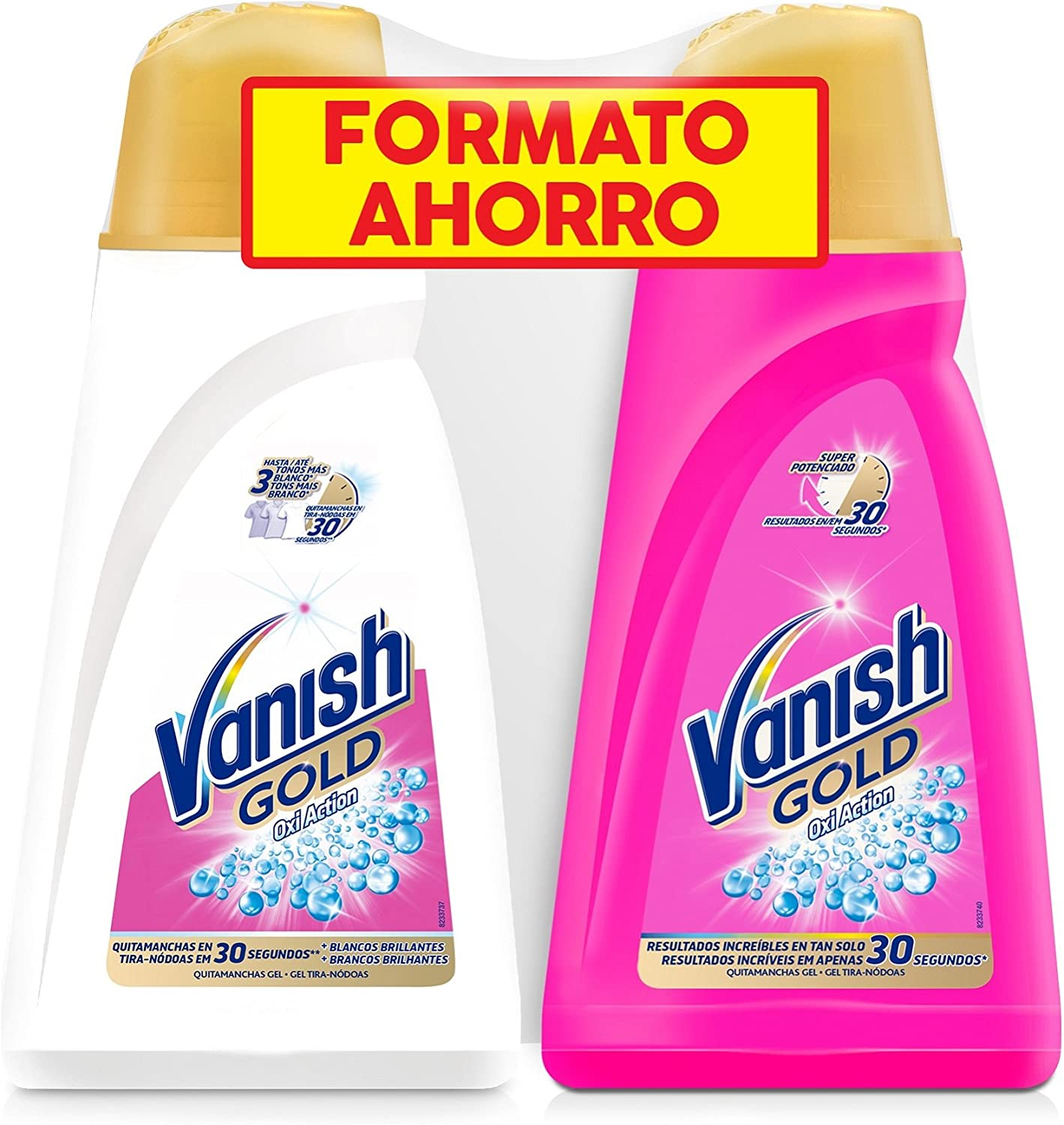 Vanish Gold Oxi Action White Quitamanchas Gel - Pack de 2 x 940 ml ...