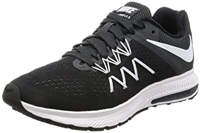 premium selection 87abe fdc4e Nike Women's Zoom Winflo 3 Black/White Anthracite Running ...