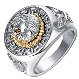 Amazon Price History for:Yoursfs Lion Ring 18K Gold /Sliver Plated Hip Hop Ring Lion Ring Men'S Titanium Ring…