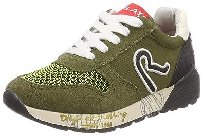 Replay Jungen MARRS Sneaker, Mehrfarbig (Army Black), 31 EU