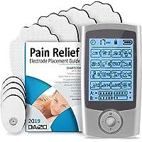 ⭐ DAiZO TENS Machine for Pain Relief - Rechargeable Dual Channel TENS Unit, 16 Massage Modes, 8 Reusable Electrode Pads, Bonus Pain Relief Guide, FDA Cleared