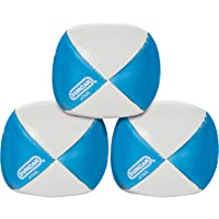 Duncan Toys Juggling Balls - [Pack of 3] Multicolor, Vinyl Shells, Circus Balls with 4 Panel Design, Plastic Beans, Blue…