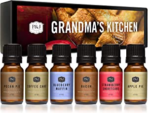 P&J Trading Fragrance Oil | Grandma's Kitchen Set of 6 - Scented Oil for Soap Making, Diffusers, Candle Making, Lotions, Haircare, Slime, and Home Fragrance
