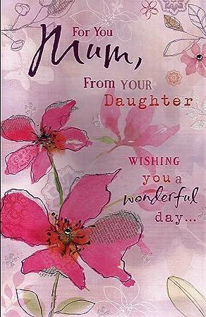 Tarjeta De Día De La Madre Para Ti Mamá De Su Hija Tarjeta De