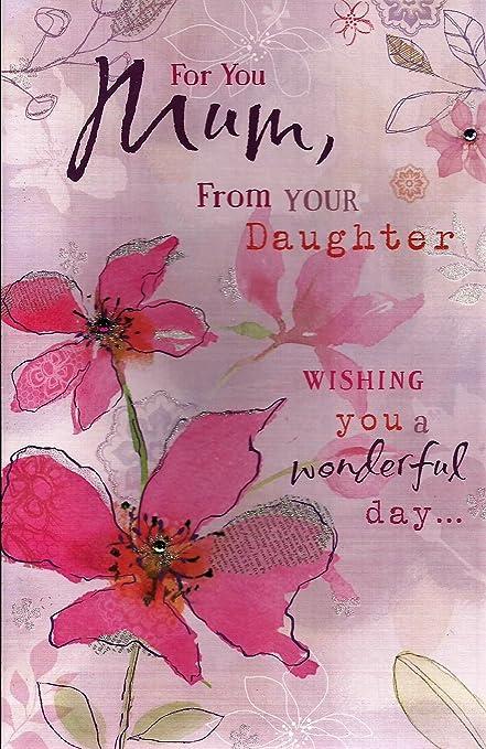 Tarjeta de día de la madre - para ti mamá, de su hija ...