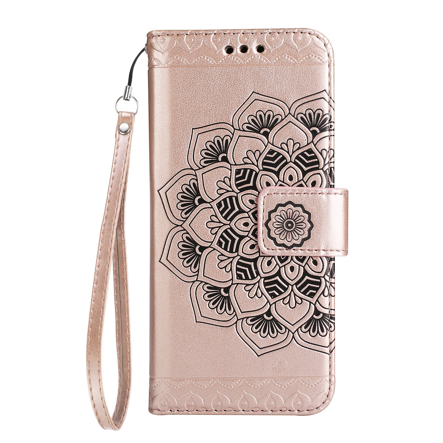 Amazon.com: NEXCURIO [Embossed Flower] Moto G4 / G4 Plus Wallet Case with Card Holder Folding Kickstand Leather Case Flip Cover for Motorola Moto G 4th ...