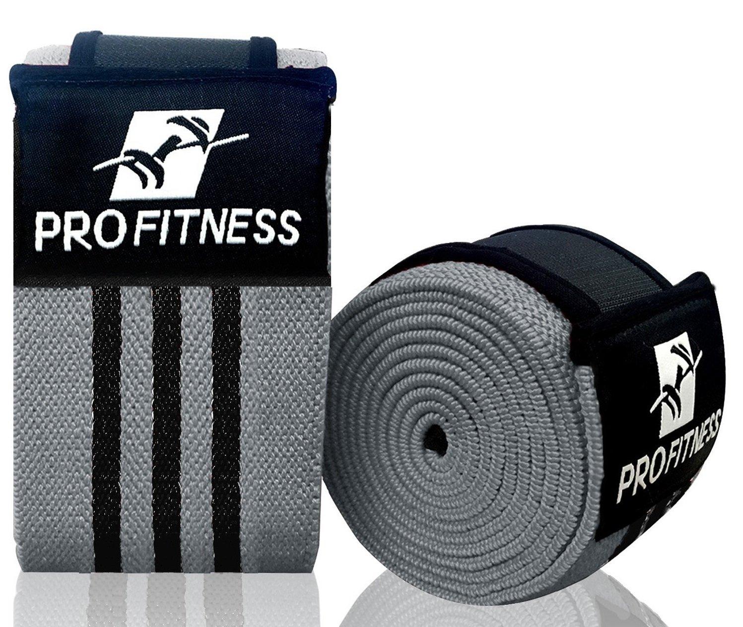 ProFitness Weightlifting Knee Wraps Pair Image 1