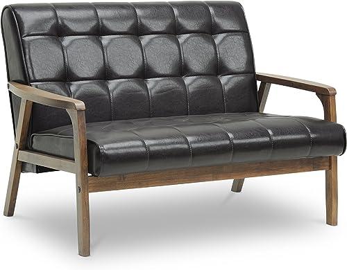 Baxton Studio Mid-Century Masterpieces Love Seat