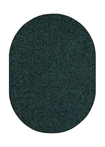 Bright House Solid Color Area Rug Forest Green – 3 x5 Oval