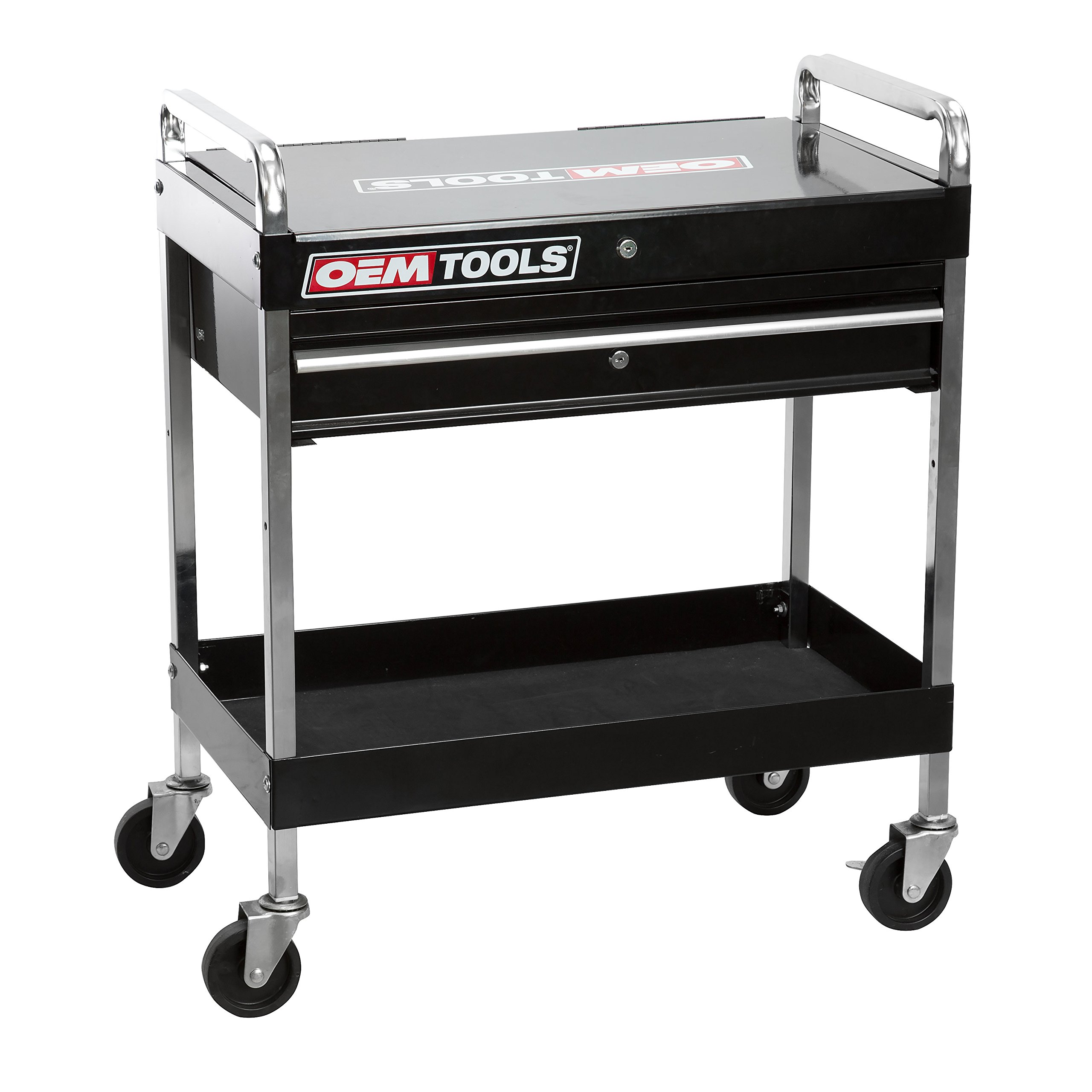 OEMTOOLS 24961  Service Cart with Locking Lid and Drawer